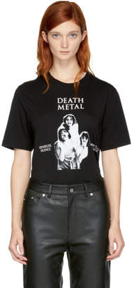 McQ Black Death Metal T-Shirt