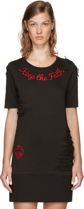 Dsquared2 Black 'Keep The Faith' Renny Fit T-Shirt $465 thestylecure.com