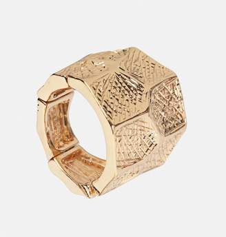 Avenue Gold Textured Stretch Ring