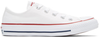 Converse White Classic Chuck Taylor All Star OX Sneakers $50 thestylecure.com