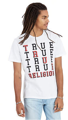 True Religion True Stacked Crew Neck Mens Tee