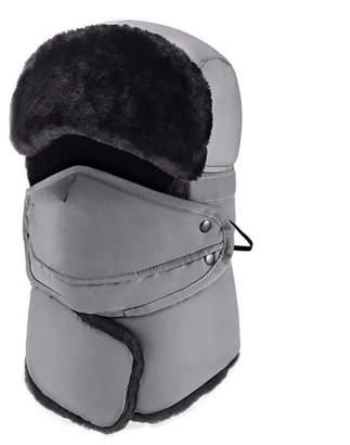 JOVIVI Winter Windproof Trapper Hat for Men Warm Hats for Men Outdoor Skiing Sport (Dark Blue)