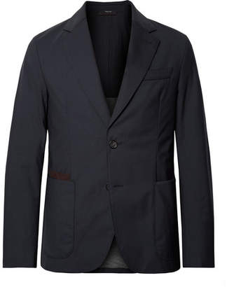 Ermenegildo Zegna Navy Slim-Fit Elements Trofeo Tech-Wool Blazer - Men - Navy