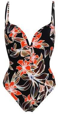 Heidi Klum Swim Cutout Floral-Print Swimsuit