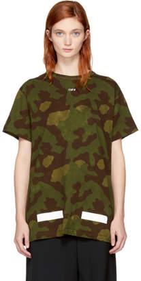 Off-White Green Camo Logo T-Shirt