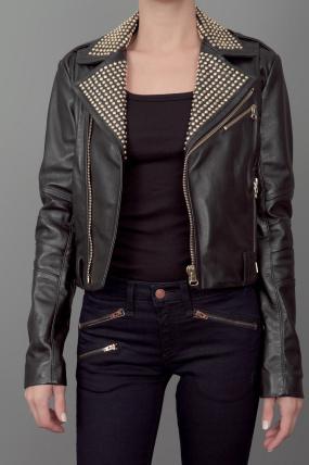 Balmain Pierre Studded Leather Jacket