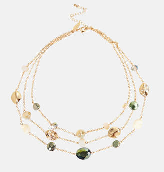 Avenue Center Stone Beaded Necklace