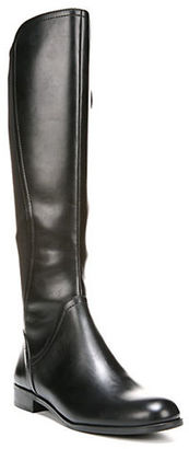 Franco Sarto Maleni Knee-High Stretch Faux Leather Boots $149 thestylecure.com