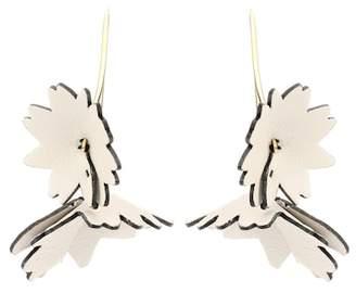 Marni Leather Flower earrings