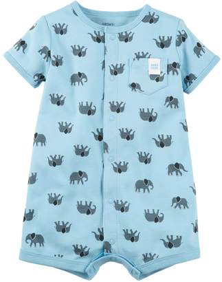 Carter's Baby Boy Elephant Print Snap-Up Romper