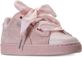 Puma Women's Suede Heart Bubble Casual Sneakers from Finish Line