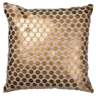 "A&B Home 22"" x 22\"" Dashiell Beaded Pillow - Copper"