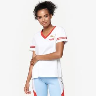 Puma Retro Classic V-Neck T-Shirt - Women's
