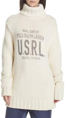 Polo Ralph Lauren Logo Graphic Turtleneck Sweater