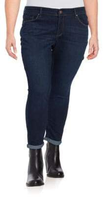 Jessica Simpson Plus Forever Rolled Skinny Jeans