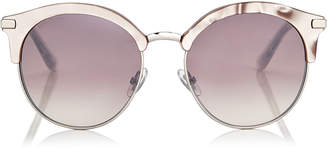 Jimmy Choo HALLY Nude Round Frame Sunglasses with Perforated Star Detailing
