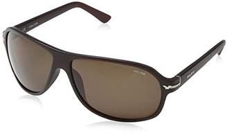 Police Men's S1959 Moxie 2 Sport Sunglasses, Brown (SHINY STREAKED BROWN FRAME/BROWN LENS)