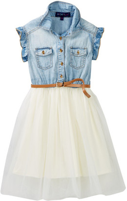 Weavers Chambray & Tulle Dress (Big Girls) $48 thestylecure.com