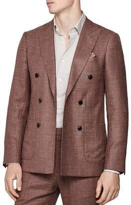 Reiss Recline Double-Breasted Regular Fit Blazer