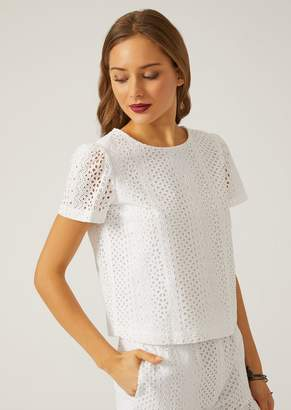 Emporio Armani Broderie Anglaise Top