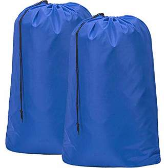 Laundry by Shelli Segal HOMEST 2 Pack Large Travel Laundry Bag [28''x40''] Machine Washable Sturdy Rip-Stop Material Drawstring Closure