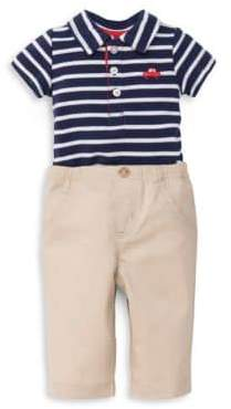 Little Me Baby Boy's Two-Piece Cotton Car Polo and Pants Set