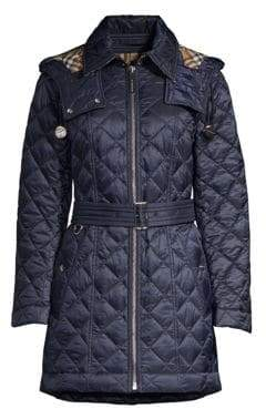Burberry Baughton Belted Quilted Jacket