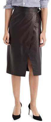 J.Crew Collection Leather Wrap Pencil Skirt