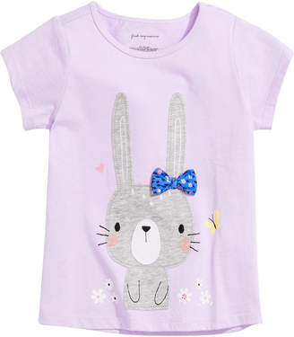 First Impressions Baby Girls Bunny-Print T-Shirt