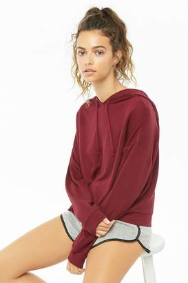 Forever 21 Drawstring Hooded Top