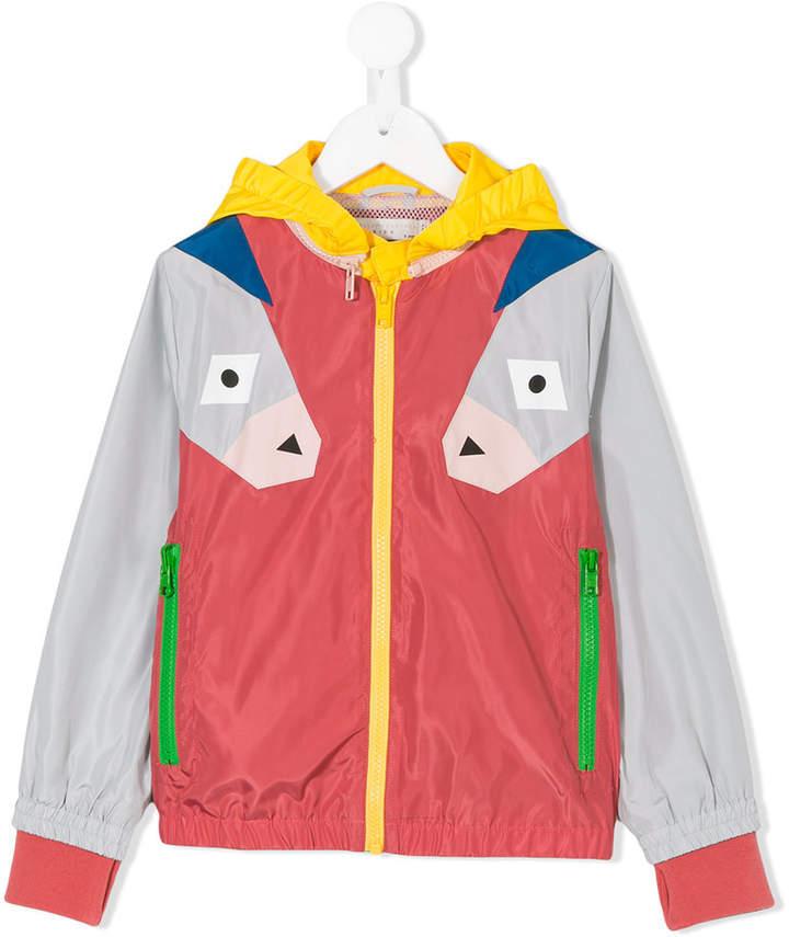 donkey print windbreaker jacket
