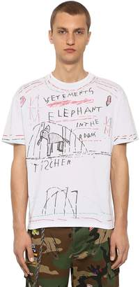 Vetements Elephant Marta Printed Jersey T-Shirt