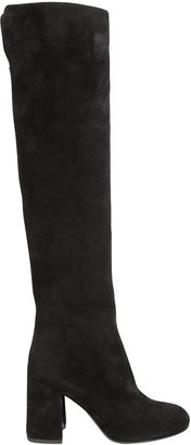 90mm Parveen Suede Over The Knee Boots $1,277 thestylecure.com