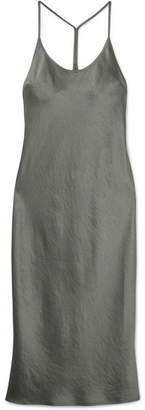 Alexander Wang Satin Midi Dress - Silver