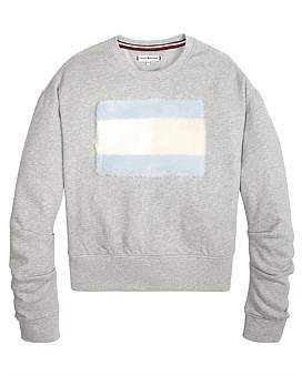 Tommy Hilfiger Faux Fur Sweatshirt (Girls 8-14 Years)