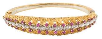 18K Ruby & Diamond Bangle Bracelet