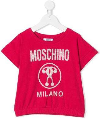 Moschino Kids TEEN logo print T-shirt