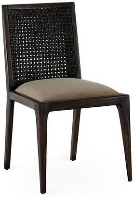 Caroline Rattan Side Chair - Smokey Brown - Brownstone Furniture