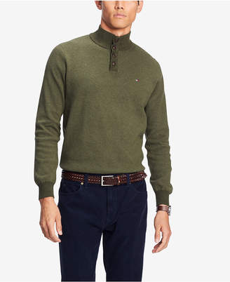 Tommy Hilfiger Men's Bridge Mock-Collar Sweater
