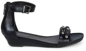 Kenneth Cole Reaction Embellished Ankle Strap Sandals