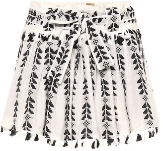 Dodo Bar Or Embroidered cotton miniskirt