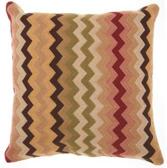 "Nourison Kathy Ireland Flamestitch Multicolor Decorative Throw Pillow, 18"" x 18"""