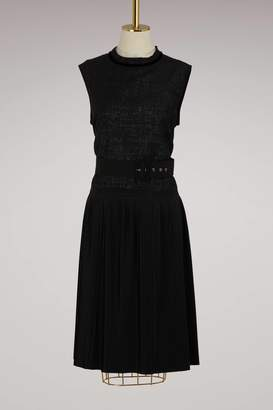 Moncler Belted sleeveless dress