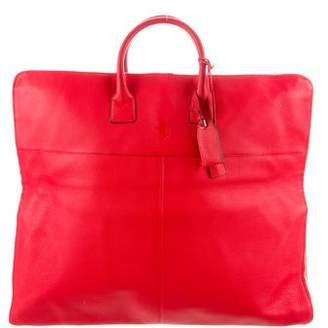 Ferrari Leather Carry-On Bag