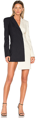 OFF-WHITE Pinstripe Formal Dress in Blue $1,220 thestylecure.com