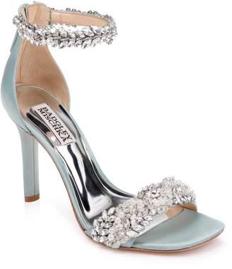 Badgley Mischka Collection Fiorenza Crystal & Imitation Pearl Embellished Sandal