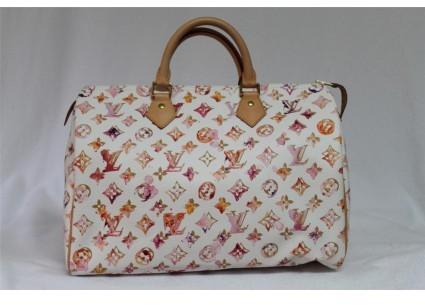 Louis Vuitton pristine (PR Limited Edition Watercolor Aquarelle Speedy 35 Bag