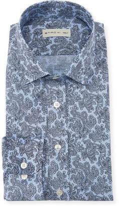 Etro Men's Stencil Paisley Dress Shirt