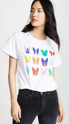 Etre Cecile Dog Grid Oversized T-Shirt