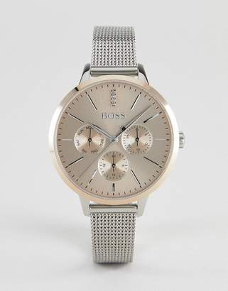 BOSS 1502423 Symphony Chronograph Mesh Watch In Silver